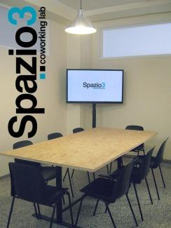 La sala riunioni al coworking Spazio3 di Milano zona Lambrate